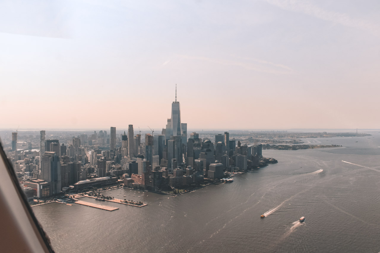 View from the helicopter New York
