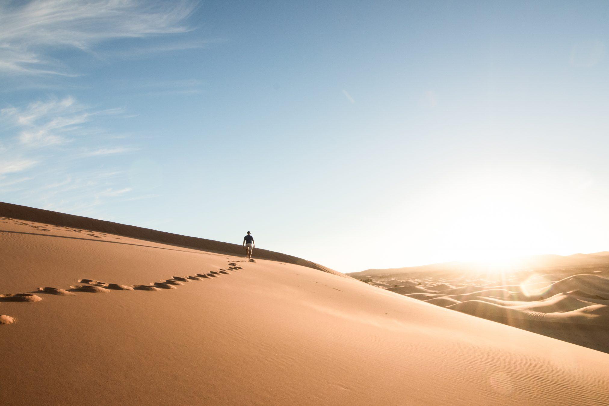 The wonderful dunes behind Desert Luxury Camp