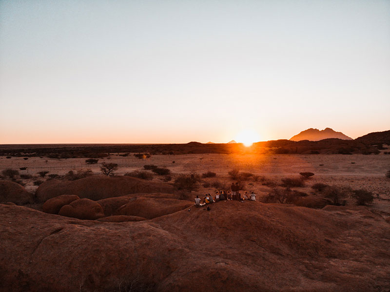 Namibia-campsites spitzkoppe