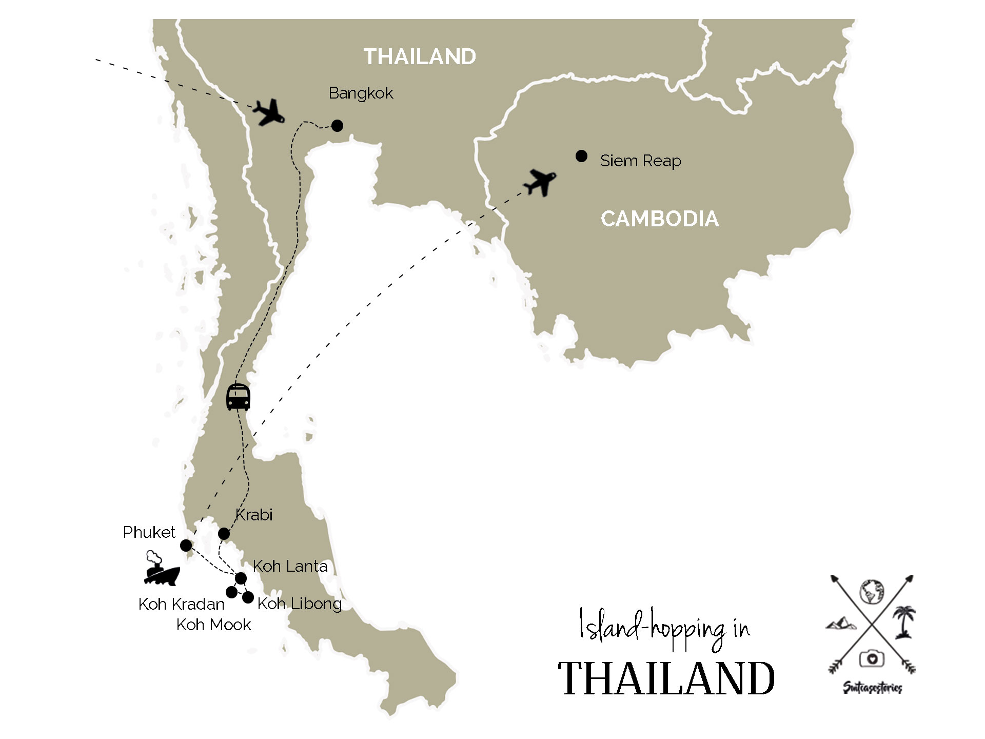 Island-hopping itinerary in Thailand