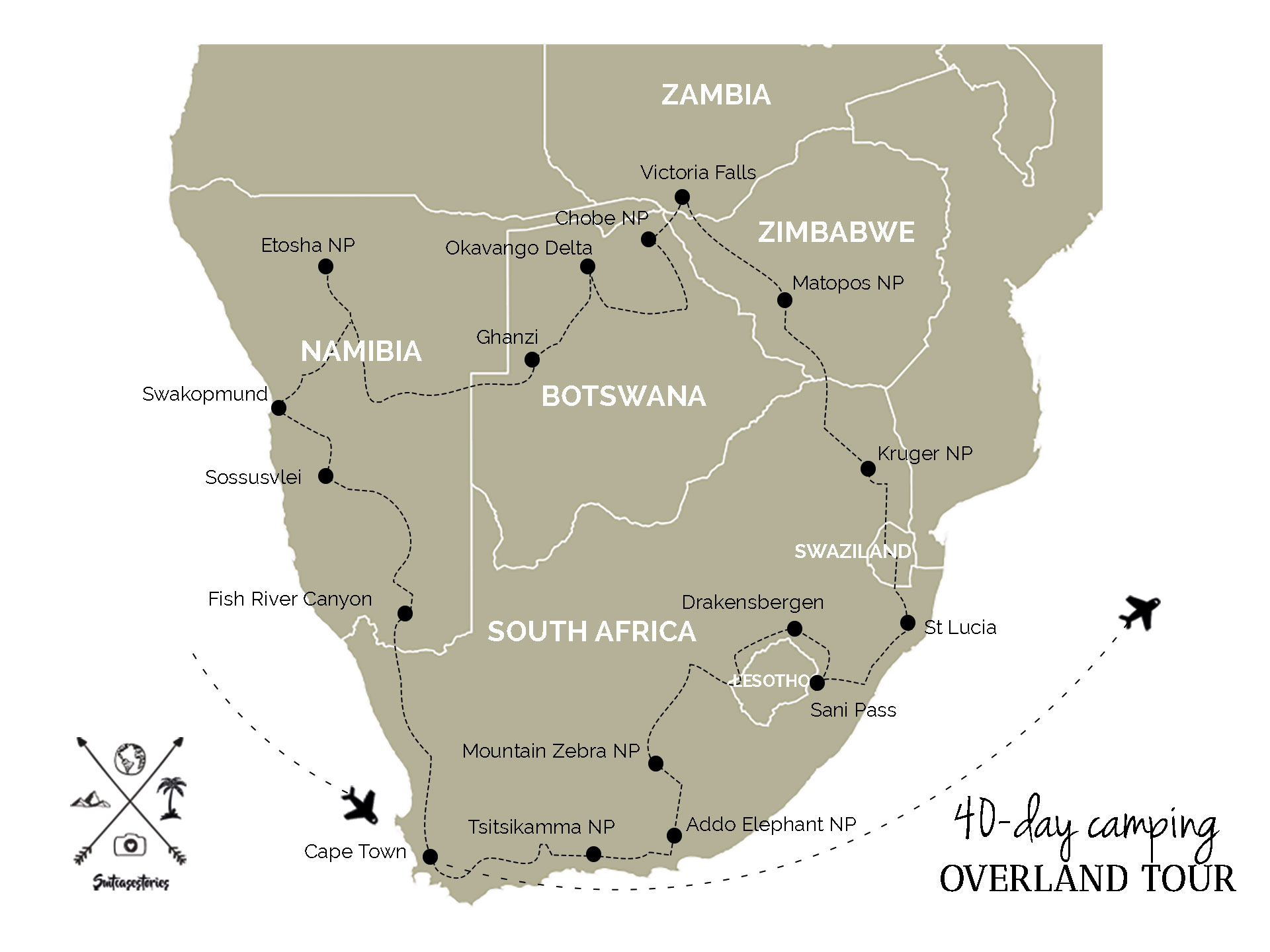 World trip update 40-day camping overland tour Africa