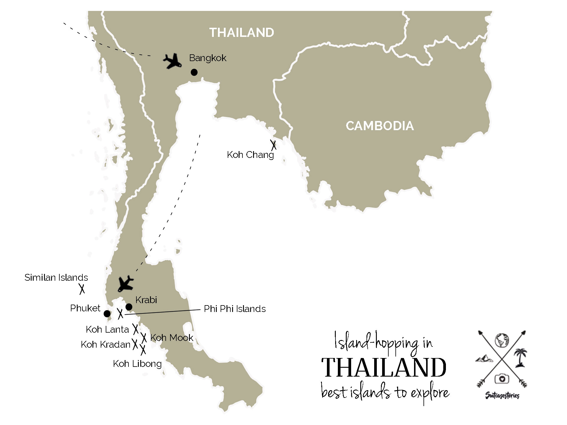 Map of Thailand's best islands to explore