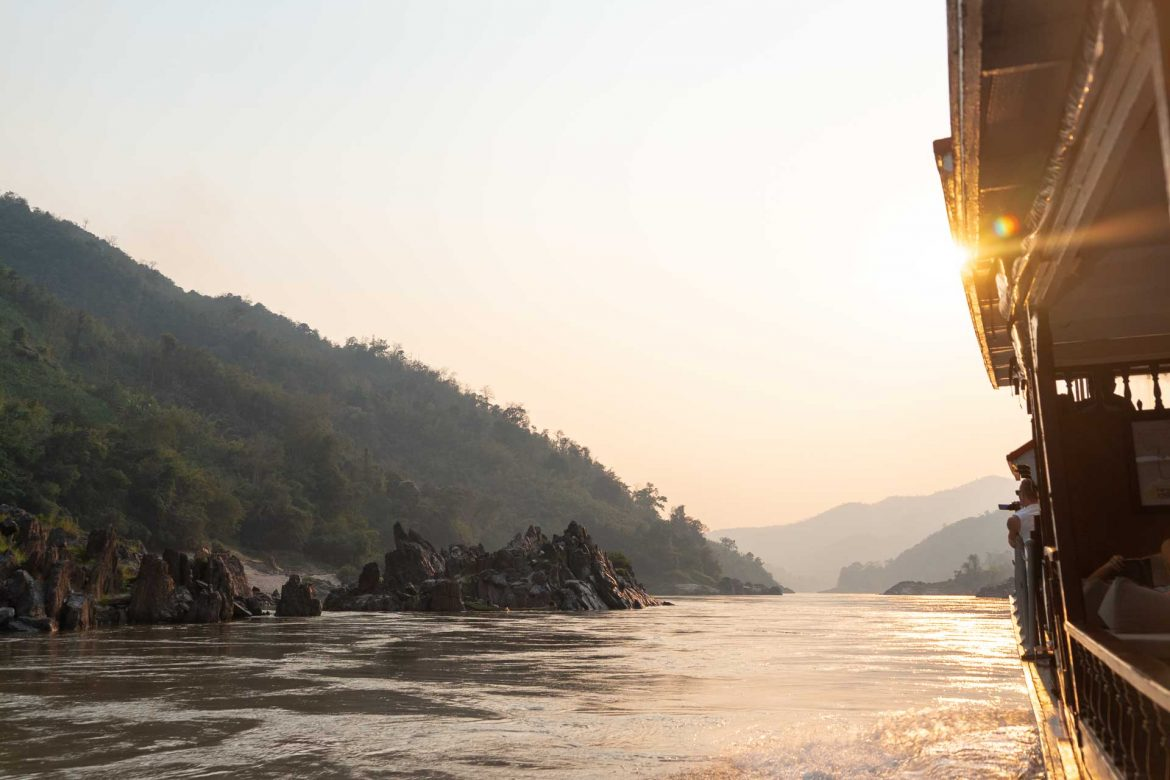 Two day cruise from Laos to Thailand
