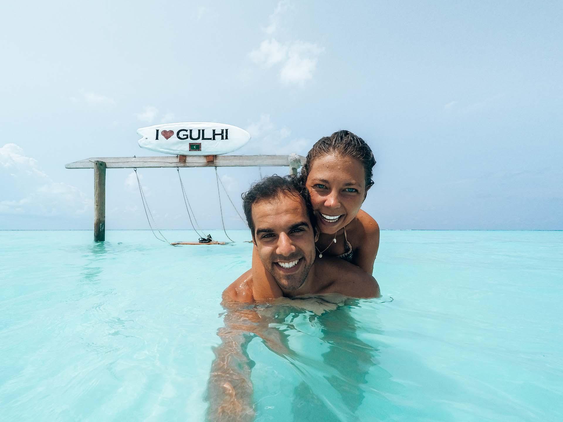 Having fun at Gulhi island