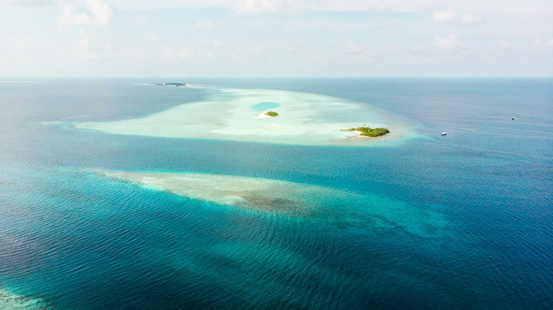 Aerial view local islands