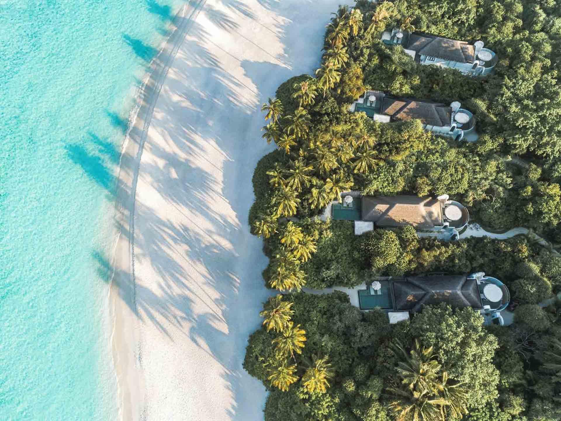 Beach villas in a luxury resort
