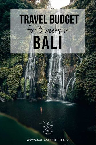 Travel budget for 3 weeks in Bali