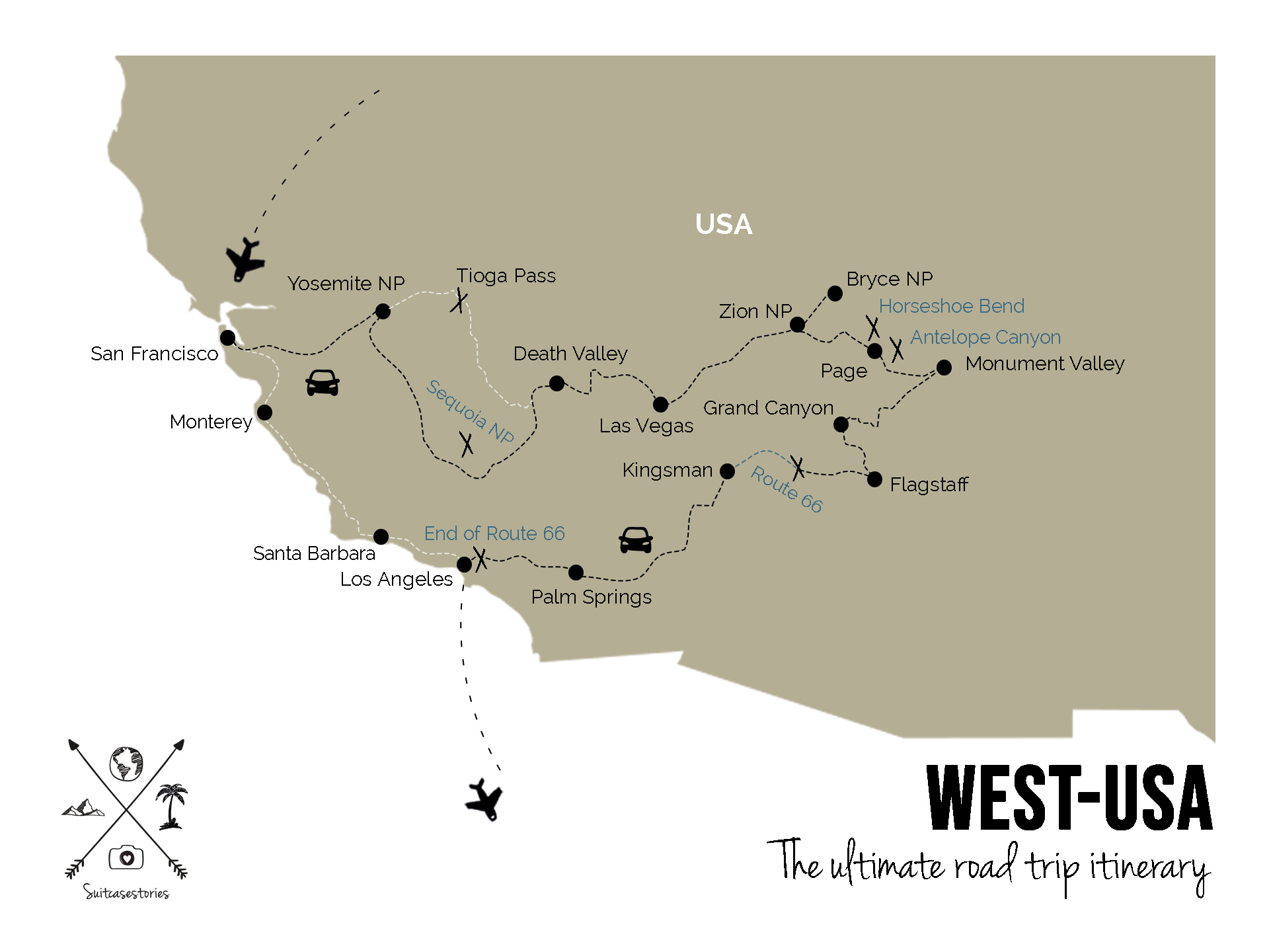 West USA: the ultimate road trip itinerary