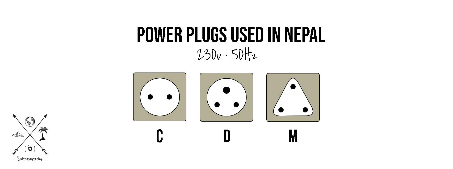 Power sockets in Nepal